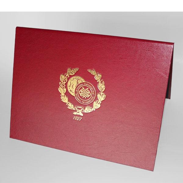 Bordo Diploma Kabı